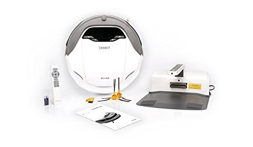 [해외]Ecovacs D63S DEEBOT 바닥 청소 로봇, 흰색/Ecovacs D63S DEEBOT Floor Cleaning Robot, White