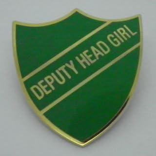Deputy Head Girl Enamel School Shield Badge White