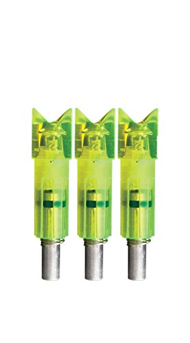 Lumenok Full Metal Jacket Crescent Bolt End (3-Pack), Green