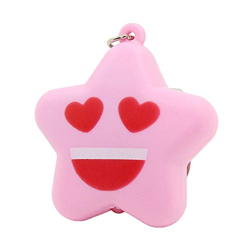 Quietcloud Cute Keychain Cartoon Starfish With Led Light Sound Keychain Key Ring Holder Hanging Decor Keychains
