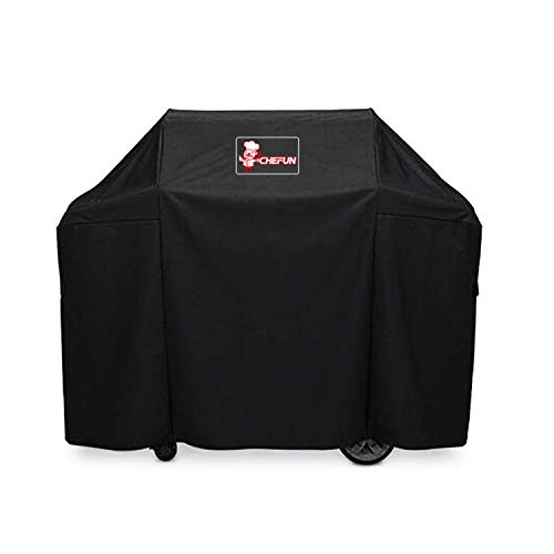 CHEFUN 7130 Grill Cover for Weber Genesis II 3 Burner Grill and Genesis 300 Series Grills,58 x 44.5-Inch Heavy Duty Waterproof & Weather Resistant Outdoor Barbeque Grill Cover