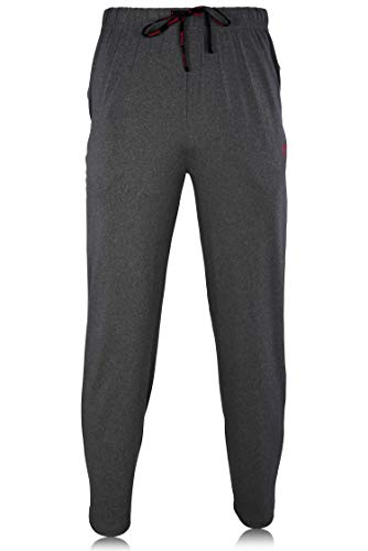 (TapouT Mens Soft Lounge Pants - Pockets Drawstring Super Soft Jersey Spandex/Polyester Blend Pajamas Charcoal Heather)