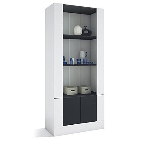 Vetrina da salotto mod. Argos, con ante in vetro 39,9 cm Bianco ...