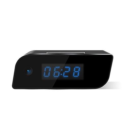 Littleadd Wi-Fi Hidden Camera Alarm Clock Full HD Adjustable 1080P Spy Camera Motion Detection Alarm Wireless IP Security Camera Nanny Cam (Alarm Clock Camera)