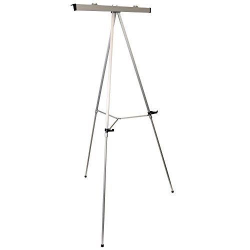 US Art Supply''Classroom'' Large Jumbo 66'' Tall Silver Aluminum Flipchart Display & Presentation Easel by US Art Supply (Image #1)