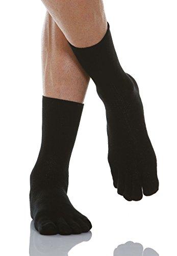 Relaxsan 650C (Black, Sz.4) Diabetic toe socks with X-Static Silver fiber ()