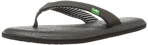 Sanuk Women's Yoga Chakra Flip Flop, Black, 6 M US by Sanuk