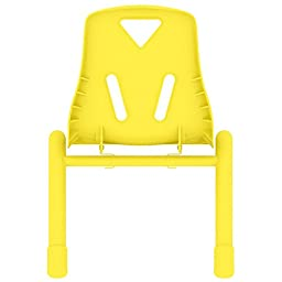 2xhome - Set of Six (6) - Yellow - Kids Size Plastic Side Chair 12\