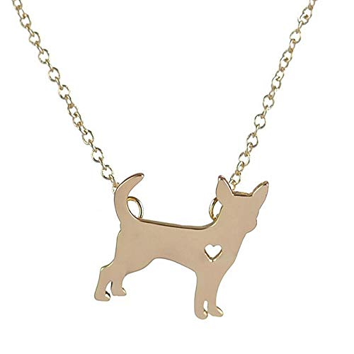 New Heart Pendant | Necklace for Puppy Dog Animal Pet | Gold Link Chain 10Pcs (Silver Plated)
