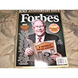 Forbes September 28, 2017 Warren Buffett 100th Anniversary Collector's Edition - 100 Greatest Business Minds