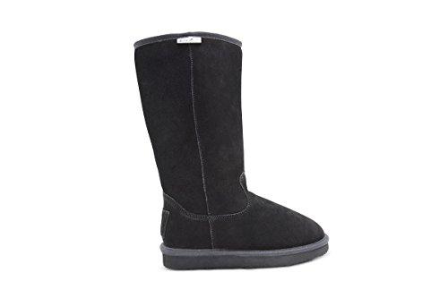 Aussie Merino High Auckland Mid-Calf Shearling Boots (6, Black) ()
