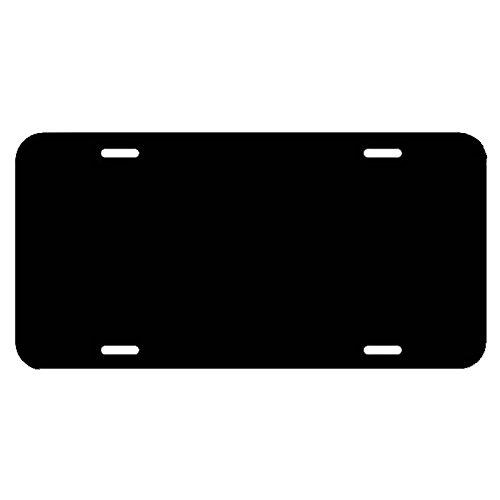 Black Acrylic License Plate (Marketing Holders Blank Black Acrylic License Plate)