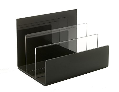 Upscale Lucite Desktop Mail Organizer Holder - File - Mail Station 2