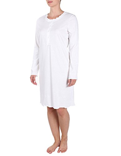 Rosch Cotton Made in Africa White Nightdress Long Sleeves 90 cm 1884022 24 UK/48 EU by Rosch