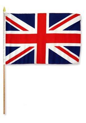 Quality Standard Flags One Dozen United Kingdom Stick Flag, 12 by 18