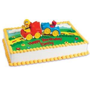 ELMO Big BIRD Tow TRUCK Cars Sesame Street Birthday Party Cake Decoration Topper