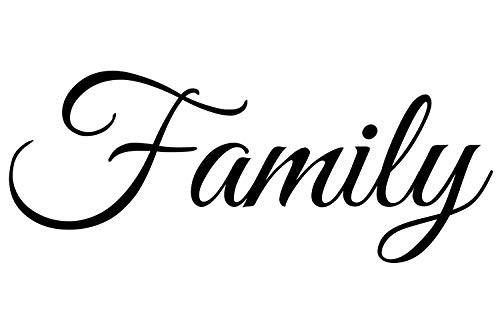 Family Decal | Large Wall Quotes Sticker (22 x 9 inches) | Vinyl Wall Art Letters | Home Accent and Decor Quote Saying | Removable Large Word Lettering for Living Room Dining Room Kitchen
