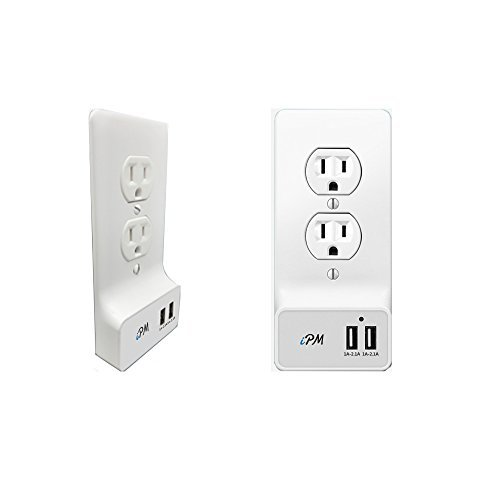 USB Smart Wall Plate With 2 USB Ports - Round by iPM