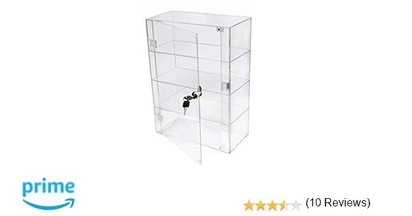 PC3721® 1 Vitrina de 3 estantes de acrílico Transparente de Alto ...