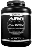 ARO-Vitacost Black Series Casein Natural Chocolate – 4 lb 1816 g