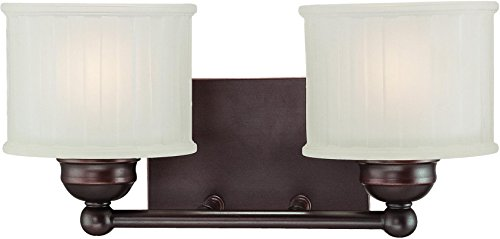 Series 2 Light Vanity - Minka Lavery Wall Sconce Lighting 6732-167, 1730 Series Reversible Glass Damp Bath Vanity Fixture, 2 Light, 200 Watts, Bronze