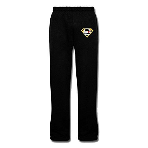 Men's Super Steelers Heavy Blend Adult Hoodie Sweatshirts L Black cool