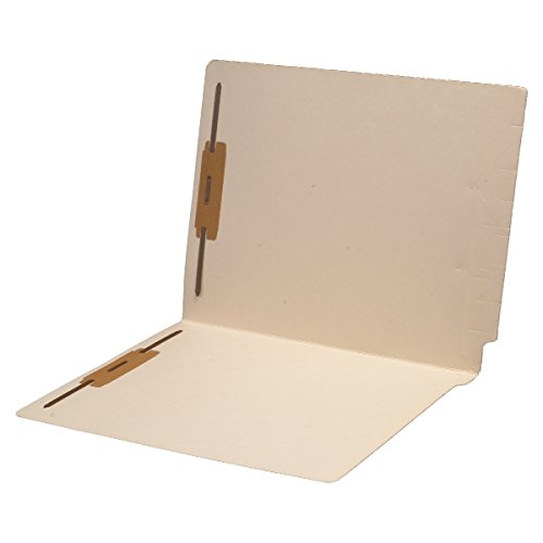 14 pt Manila Folders, Full Cut 2-Ply End Tab, Letter Size, Fastener Pos #1 & #3, Reinforced Spine (Box of 50)