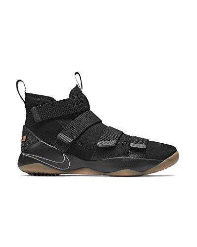 NIKE Herren Lebron Soldier XI Schwarz Textil Sneaker 44