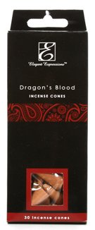 Elegant Expressions 180 Pack Dragon's Blood Highly Fragranced Incense Cones. Hand fragranced, infused with essential oils.