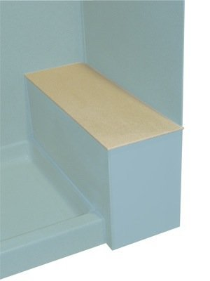 Swan SB01248.040 Solid Surface Shower Bench Seat, 12.75-in L X 48-in H X 0.4-in H, Bermuda Sand