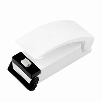 ewinever Mini sellador de la Bolsa de plástico, máquina de Sellado de Calor portátil para el Bolso de la Comida, Clip del Sello para la Bolsa de ...