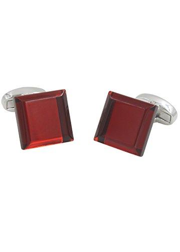 AUSCUFFLINKS Ruby Anniversary Wedding Cufflinks | Bevelled Edge Red Cuff Links Men | Inc Cufflinks Box by AUSCUFFLINKS (Image #5)