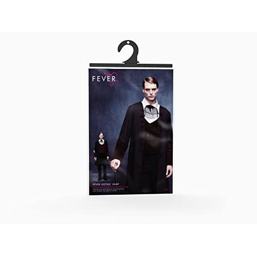 Smiffys 21323M Déguisement Homme Vampire Gothique Fever, Noir, Taille M