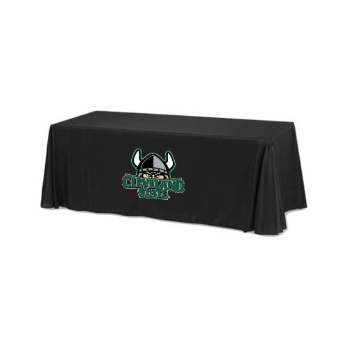 Cleveland State Black 6 foot Table Throw 'Official Logo' by CollegeFanGear