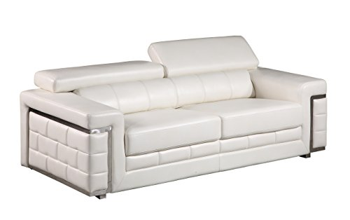 Global Furniture U7940 – DTP672/B – WH – S Blanche Sofa, White