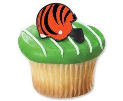 NFL Cincinnati Bengals Cupcake Helmet Rings Cake Decoration