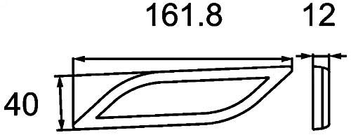 rot hinten links R/ückstrahllicht Shapeline Style waagerecht klebend HELLA 8RA 013 347-051 R/ückstrahler