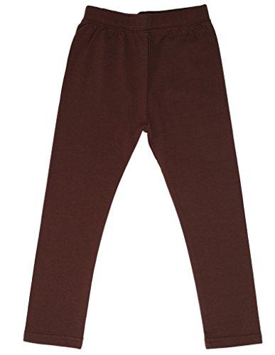 high5 Solid Big Girl's Cotton Legging - Dark Brown - ()