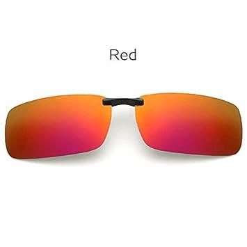 KLXEB Coloque Las Gafas De Sol Polarizadas Hombre Encajar Miopía Gafas Gafas De Visión Nocturna Sin Cerco Hombres Gafas De Sol Gafas De Sol Plegables,Rojo: ...