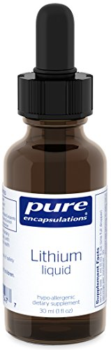 Pure Encapsulations - Lithium Liquid - Supports Cognitive Health, Mood, and Brain Function - 30 ml