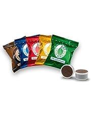 4 x 50 capsules Borbone Point Verkoeling 50 zwart, 50 blauw, 50 rood, 50 gouden producten Espresso Point