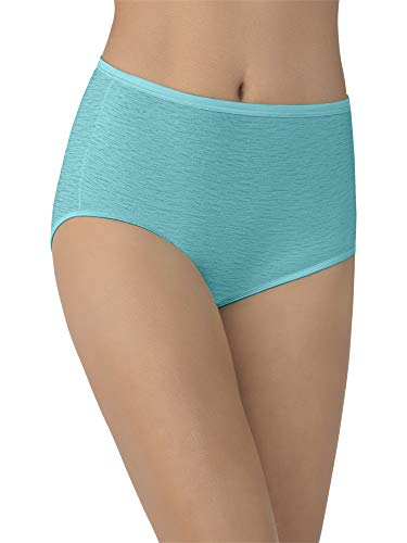 Vanity Fair Women's Underwear Illumination Brief Panty 13109, Rainforest Aqua, - Brief Panty Aqua