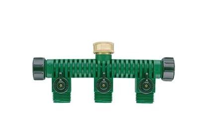 Orbit 5-Port Garden Hose Splitter Faucet Manifold & Water Shut off Valves 62009N