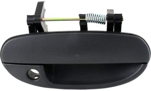 Door Handle For 2002-2009 Chevrolet Trailblazer Smooth Black Front Right Outer