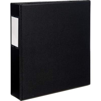 Avery Products - Avery - Durable EZ-Turn Ring Binder With Label Holder, 11 x 8-1/2, 2amp;quot; Capacity, Black - Sold As 1 Each - Unique EZ-TurnTM ring design for smoother - Durable Ez Binders Turn Ring