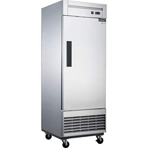 Dukers D28F 17.7 cu. ft. Single Door Commercial Freezer in Stainless Steel ()
