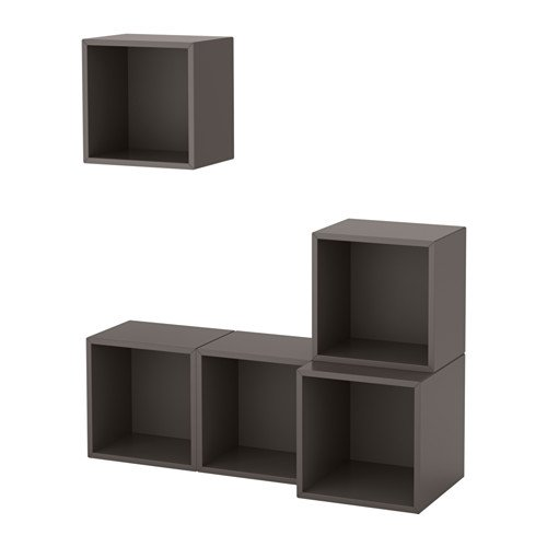 Ikea Wall-mounted cabinet combination, dark gray