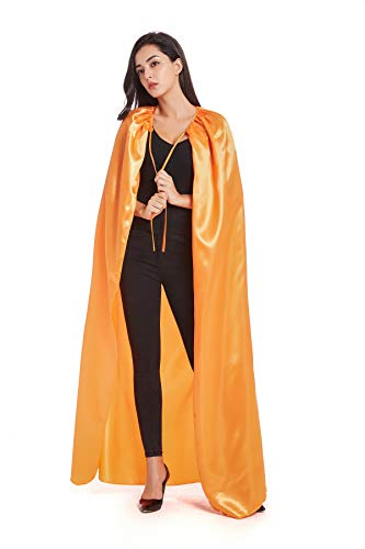 Crizcape Costumes Cape Full Length Adult Halloween Cape Cloak Knight Witches Vampires Royalty Fancy Cosplay Costume(XL,Orange)]()
