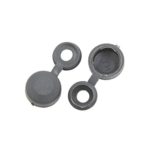 uxcell 100pcs 4.5mm Hole Hinged Screw Cover Fold Snap Caps for Car Home Furniture Decor
