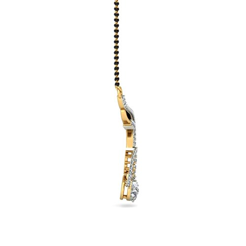 Or jaune 18K 0.87CT TW White-diamond (IJ   SI) Mangalsutra